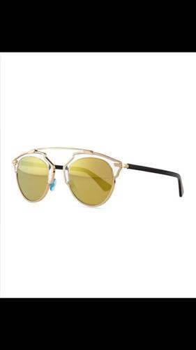 afc1a9d27a659 Óculos De Sol . Dior So Real . Dourado - R  1.680