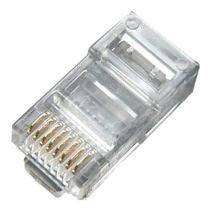100 Conectores Rj45 Macho 8 Vias Cabo Rede Ethernet Lan