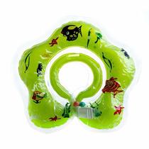Boia De Pescoço Inflável Para Bebês Verde - Pronta Entrega