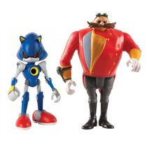 Dr. Eggman E Metal Sonic Figura Articulada Tomy To-22502a2-f