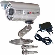 Câmera Vigilância Infravermelho + Fonte + Conectores