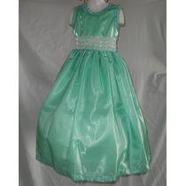 Nuevo Vestido Largo Lujo 4 5 Niña Paje Princesa Fiesta