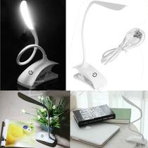 Lampara Escritorio Touch Recargable Luz Fria 10 Horas Pinza