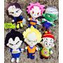 Pelúcia Kit 6 Dragon Ball Z Animes Goku - Frete Grátis