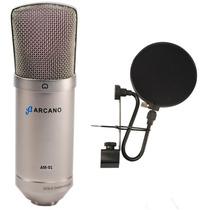 Microfone Arcano Para Estúdio St-01 Igual B1 + 01 Pfe-06