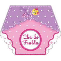 40 Convites Chá De Fraldas Menina Rosa - Via Mercado Envios