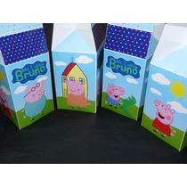 Milk Box Carameleras Personalizadas C/cierre De Sticker