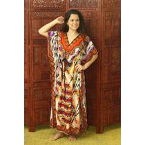 Vestido Longo Tipo Kaftan Indiano Longo Indian House