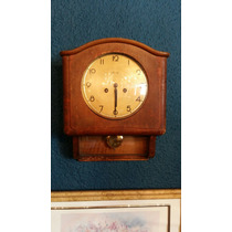 Antiguo Reloj De Pared Mauthe Aleman !! De Madera