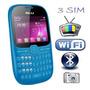 Celular Blu Con 3 Sim Al Mismo Tiempo Radio,tv Y Wifi