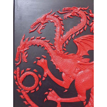 Cuadros Game Of Thrones Relieve, 45x33, Marco Y Base Madera