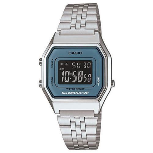 d603c4ad8c3 Relógio Feminino Digital Casio Vintage La680wa-2bdf - Prata - R  269 ...