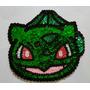 Aplique De Lentejuelas Para Murga: Bulbasaur Cara 17x16