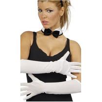 Guantes Rosado Blanco Negro Disfraz Cosplay Halloween