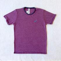 Camiseta T-shirt - Doc Dog Bordô Com Lavagem Meia Malha