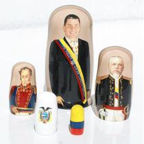 Muneca De Madera, Presidente Del Ecuador, Arte Y Artesanias
