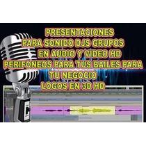Logos 3d, Para Pantalla De Video Sonideros, Djs, Gr Hd