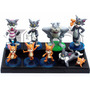 Tom Y Jerry Set X 9 Figuras Pvc Con Base Adorno De Tortas