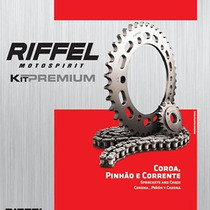 Kit Relação Honda Nxr 160 Bros Riffel Premium