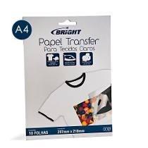Papel Transfer P/ Tecidos Claros A4 (210 X 297mm) | 10 Folha