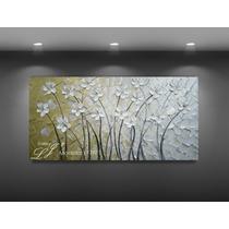 Pinturas Al Oleo Con Espátula - 100% A Mano - Arte - Flores