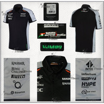 Playera Polo Sahara Force India F1 Genuina 2016 Sergio Perez
