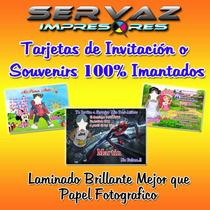 Invitaciones Souvenir Imantadas Personalizadas-diseño Gratis