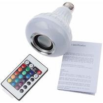 Lampada Led Rgb C/ Bluetooth Caixa De Som E Controle Remoto