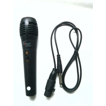 Microfone Cabo P10 P/ Karaoke Tv Dvd Igreja Home Theater