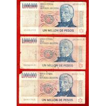 Lote 9 Billetes Argentino De 1000000 De Pesos