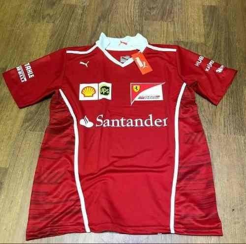 Camiseta Polo Santander Ferrari Original - R  250 5d079067622