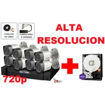 Kit 8 Camaras Disco 2tb Purple Alta Resolucion Cctv Hdcvi