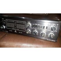 Amplificador Mixer Quasar Qa-5505 Raro Leds Horizontais