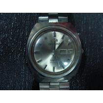 Reloj Orient Crystal,caratula Gris,hermoso, En Acero, Autom