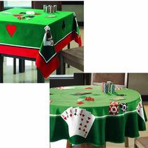 2 Toalha De Mesa Redonda E Quadrada P/ Jogos Poker Baralho