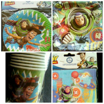 Combo Fiesta Mantelería Importado Toy Story-buzz Lightyear