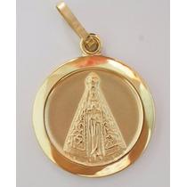 Swjoias Medalha Pingente Nossa Senhora Aparecida Ouro 18k