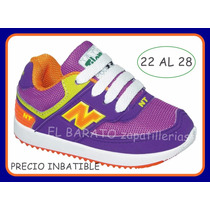 Zapatillas De Niños Varon Nena New Tilers Del 22 Al 28