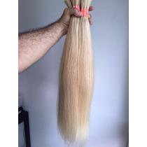 Cabelo Humano Natural P/mega Hair Loiro Claro 60 Cm 50 Gr