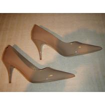 Zapato Gacel De Cuero Charol Colección N º 38. Nude.