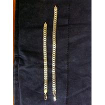 Pulsera Tipo Esclava Moderna En Chapa De Oro De 14 Kilates