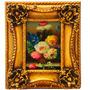 Quadro Design Classico Oleo Sobre Madeira Flores