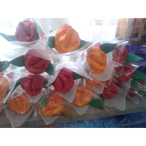 10 Rosas Artificiais Eva Embaladas Artesanal