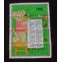 Almanaque Calendario De Tela Repasador 1989 Microcentro