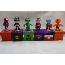 Souvenirs Superheroes Cajita,batman,hombre Araña,hulk..etc!!