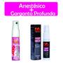 Kit Erótico Sexshop Anestésico Anal + Garganta Profunda Sexo