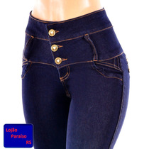 Causa Corpete Jeans Cintura Hot Pants Strech Elastano Lycra