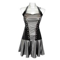 Vestido Corto Vinipiel Corset Gotico Dark Cybergoth