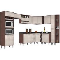 Cozinha Modulada 12 Peças Poquema Bruna C5 Capuccino/amêndoa
