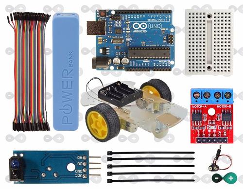 Kit robo seguidor de linha arduino completo r